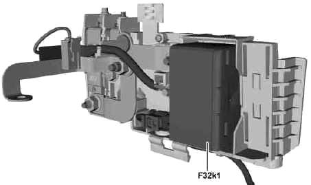 Передний электрический блок предохранителей