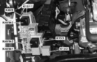 Instrument Panel Fuse Box (relays)