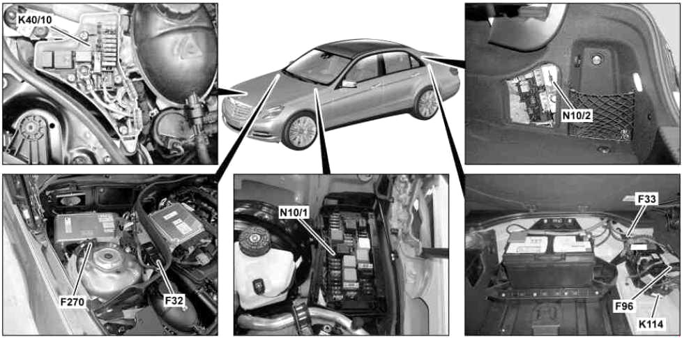 Mercedes-Benz E-Class (W212) (2009-2016) Fuse Diagram ...