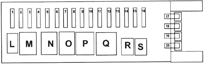 Rear SAM (100A) Fuse Box Diagram