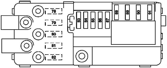 Battery Compartment Prefuse Box Diagram