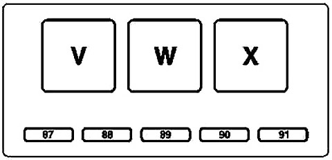 Engine Compartment Additional Fuse Box Diagram