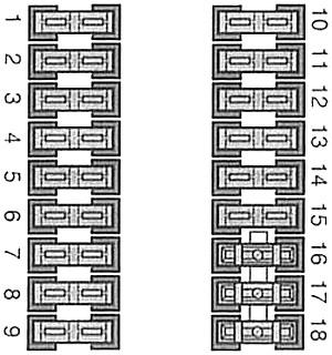 Fuse box under steering column (diagram)