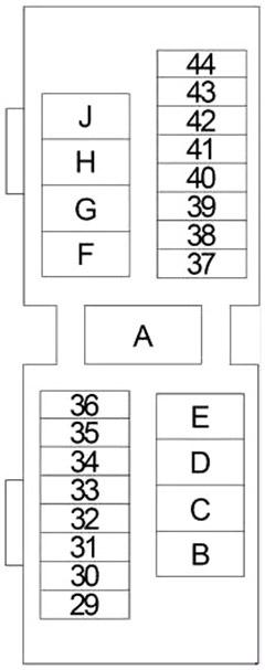 nissan frontier (1997-2004) fuse diagram • fusecheck.com  fuse box