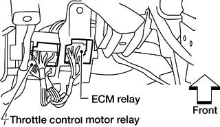 Реле модуля управления двигателем / Реле двигателя управления дроссельной заслонкой