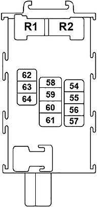 Схема дополнительной панели предохранителей