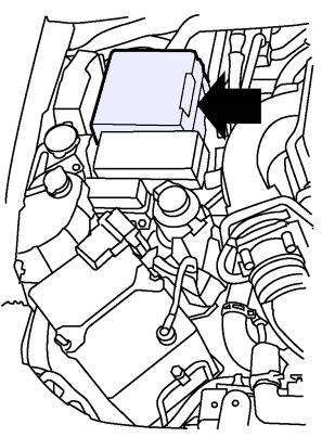 Предохранители в моторном отсеке