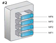 Engine Compartment Fuse Box #2 Diagram