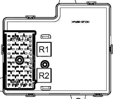 Passenger Compartment Fuse Box Diagram (rear side)