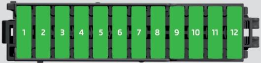 Fuses in the dash panel (Diagram)