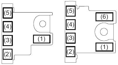 Схема блока предохранителей в моторном отсеке (на аккумуляторной батарее)