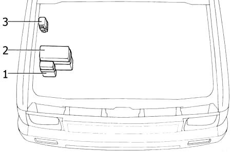 Моторный отсек (3VZ – E)