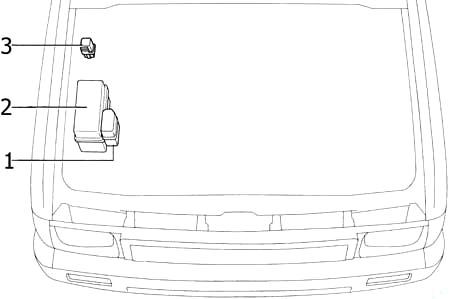 Отсек двигателя (22R – E)