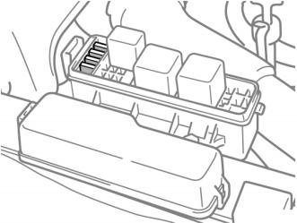 Расположение блока реле