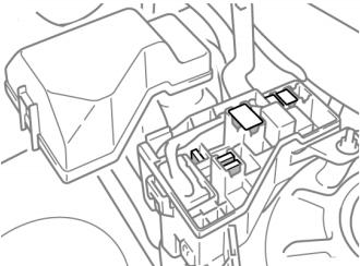 Дополнительный блок предохранителей (1AZ-FSE, 1AZ-FE, 1ZZ-FE, 3ZZ-FE)