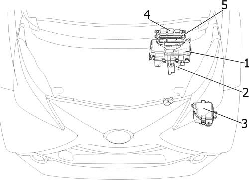 Отсек двигателя (RHD)