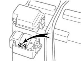 Расположение дополнительного блока предохранителей (ДХО)