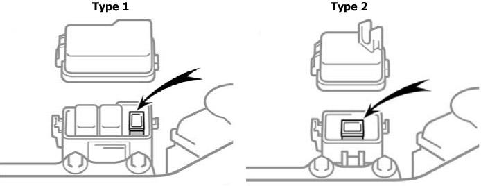Расположение дополнительного блока предохранителей (ABS)