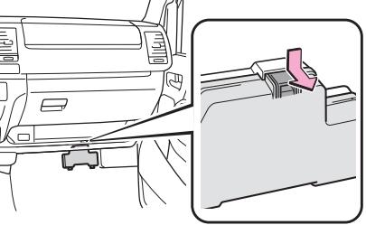 Расположение дополнительного блока предохранителей (LHD)