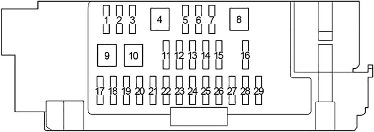Toyota Hilux 2015 2019 Fuse Diagram Fusecheck Com