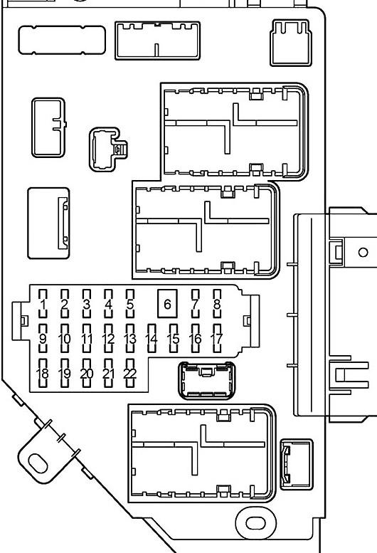 Toyota Land Cruiser 100 2003 2007 Fuse Diagram Fusecheck Com