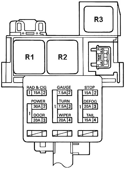 Левая ударная панель (П / Б №1)
