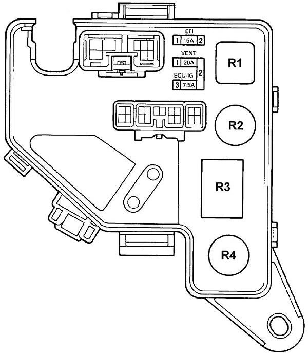 Моторный отсек левый (R / B №2)