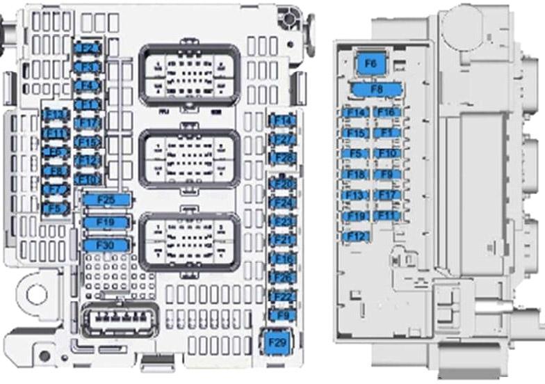 Схема блока предохранителей в моторном отсеке (ПОЛНАЯ)