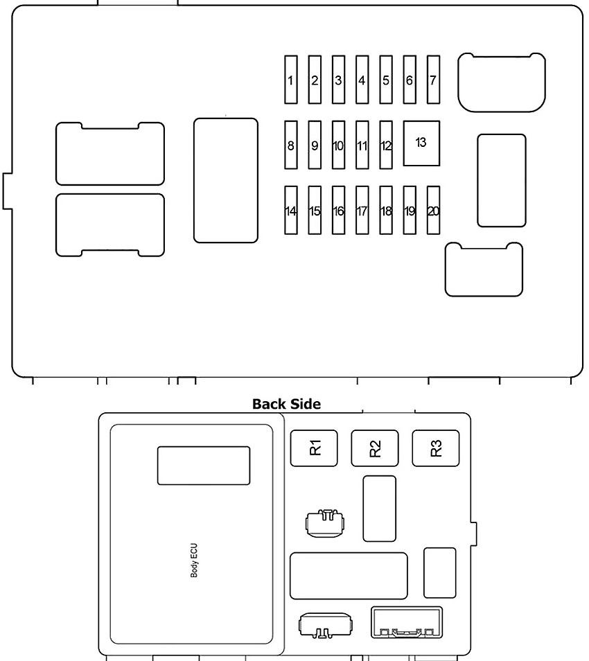 Toyota Tacoma (2005-2015) Fuse Diagram • FuseCheck.com