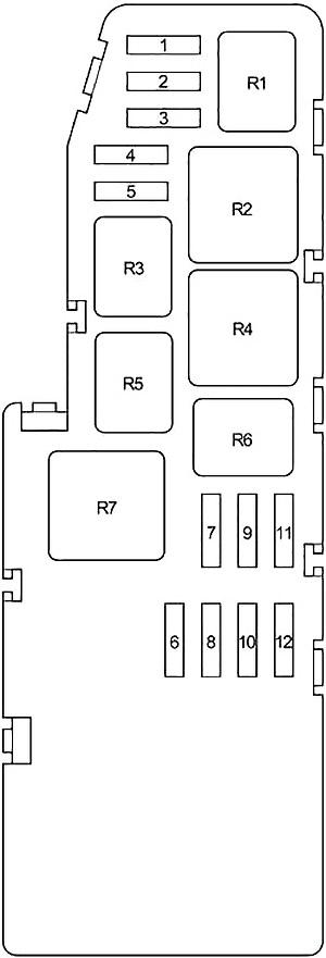 toyota tundra double cab (2004-2006) fuse diagram • fusecheck.com  fuse box