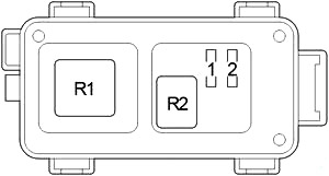 Блок предохранителей №2 (Тип 1)