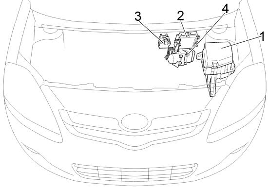 Отсек двигателя (Sedan RHD)