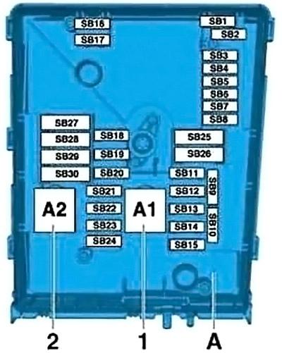 Engine Compartment Fuse Box Diagram (SB)
