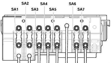 Engine Compartment Fuse Box Diagram (Type 1)