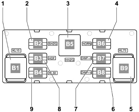 Relay carrier (lower)
