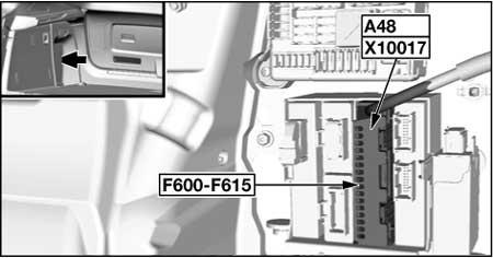 Дополнительные предохранители в багажнике (ActiveHybrid)
