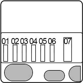 Предохранители в моторном отсеке (N55)